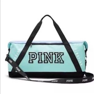 PINK by Victoria's Secret Blue Duffle Bag Gym tote